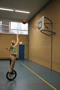 Eenwielbasketbal winter