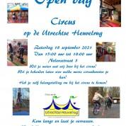 Open dag op zaterdag 18 september 2021