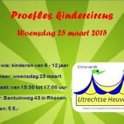 Proefles kindercircus op 25 maart